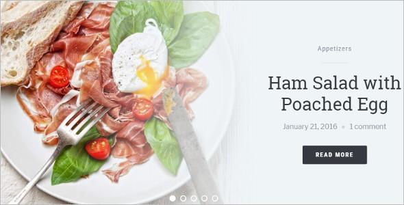 Food Based Blog WordPress Template