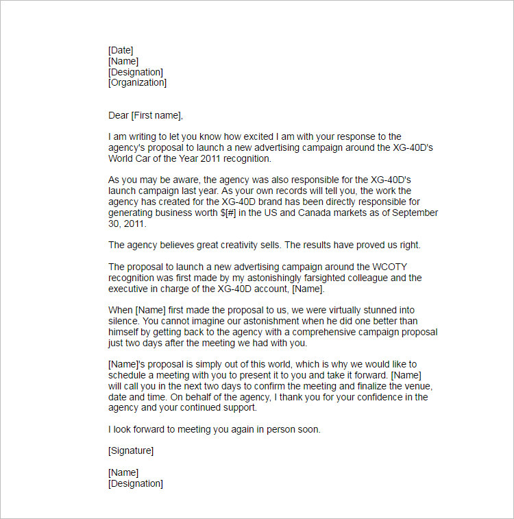 Proposal Letter Outline. Sponsorship Proposal Cover Letter