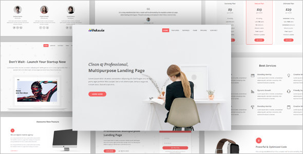Full-Screen Agency landing Page Template