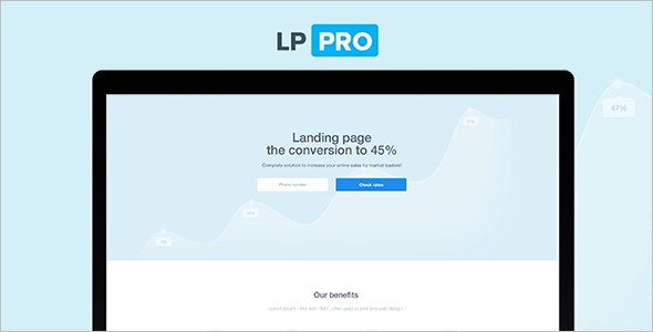 Full-Screen Corporate landing Page Template