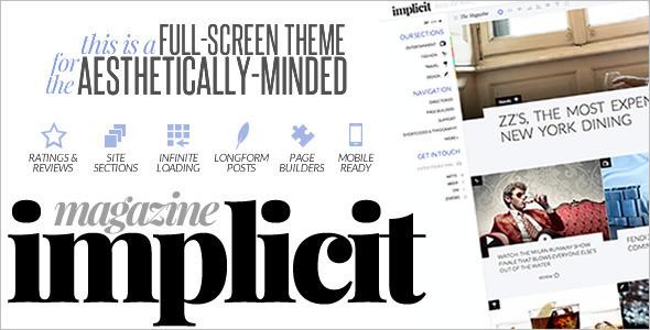 Full-Screen Magazine Website template