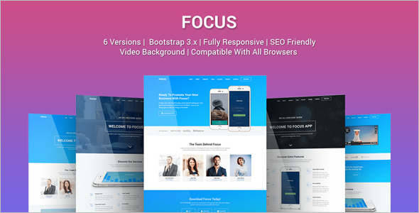 Full-Screen Marketing Landing Page Template