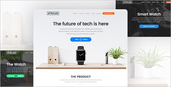 Full-Screen furnature Landing Page Template