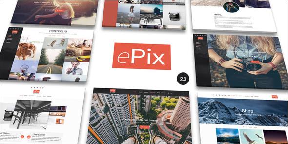 Full Screen photo Portfolio WordPress Theme