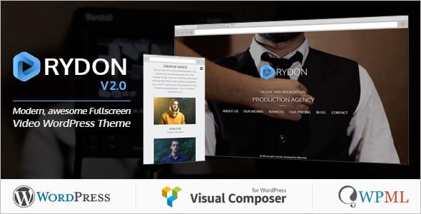 Fullscreen Video WordPress Template