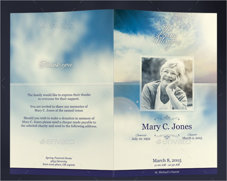 Funeral Program InDesign Template