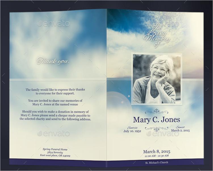 Funeral Program InDesign Template