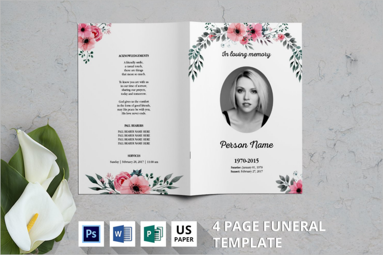 Funeral Program Template Doc