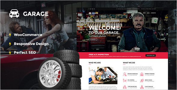 Garage Automotive WordPress Template