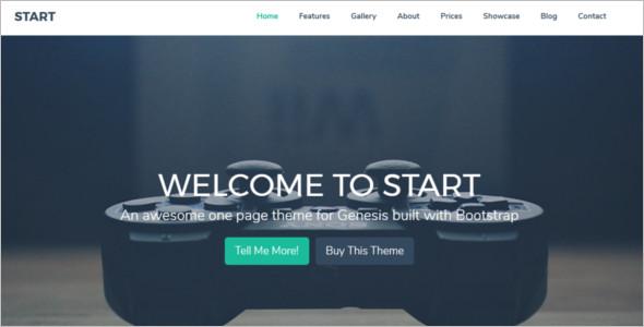 Genesis Bootstrap WordPress Template