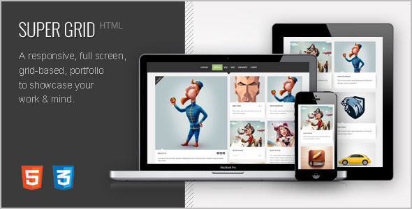 Grid Based Layout HTML Template