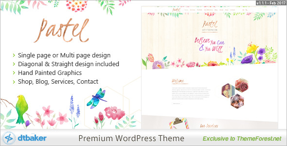 Hand Drawn Floral WordPress Template