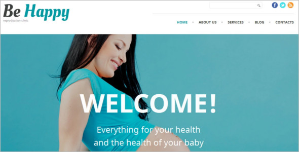 Healthy Baby WordPress Template