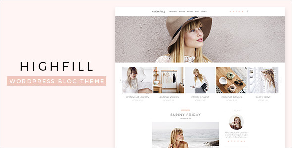 Highfill WordPress Blog Template