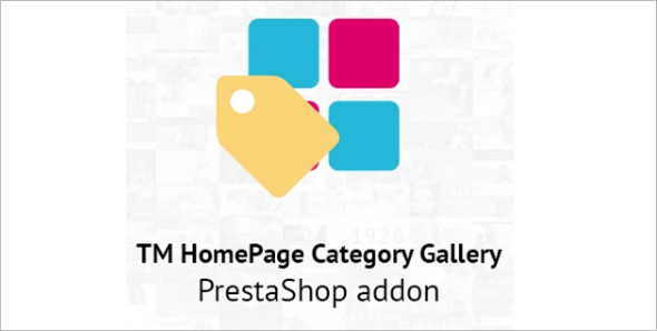 Homepage Category Website Template