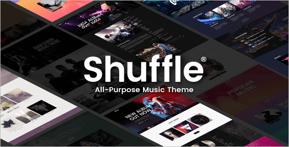 Homepage Music Website Template