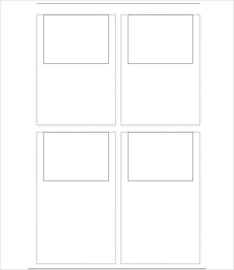 Horizontal Story Board Template