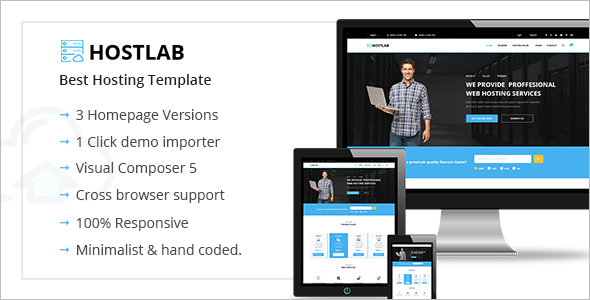 Hosting Agency WordPress template