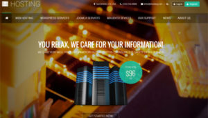 Hosting Joomla Template