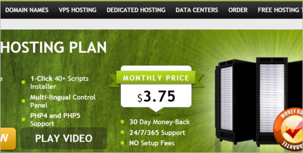 Hosting Plan WordPress template