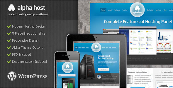 Hosting WordPress Model Template