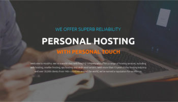 Hosting WordPress template