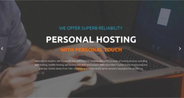 Hosting WordPress template