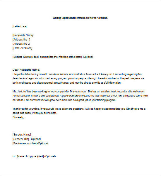 55+ Free Recommendation Letter Template Word Sample Formats