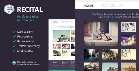 Illustration Portfolio WordPress Template
