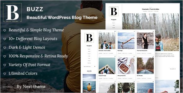 Instagram WordPress Blog Template