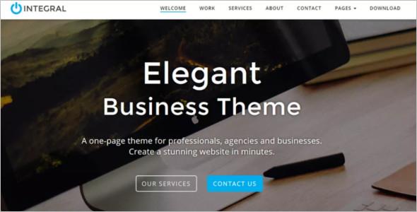 Integral Godaddy WordPress Template