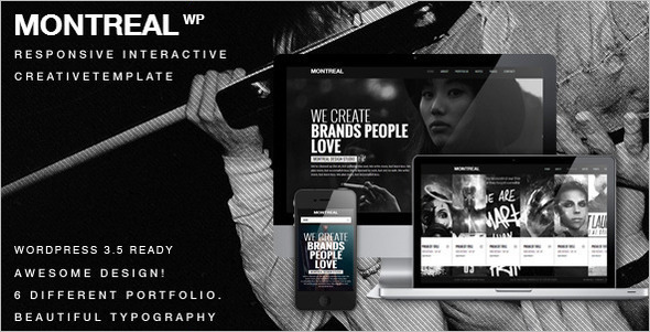 Interactive Animated WordPress Template
