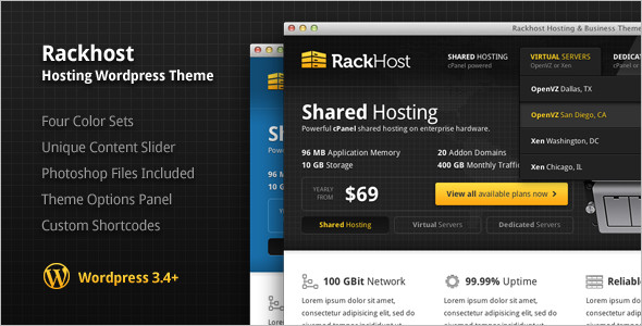 Internet Hosting WordPress Template