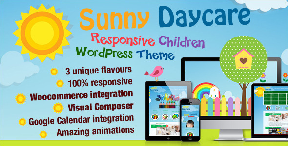 Kindergarden WordPress Template