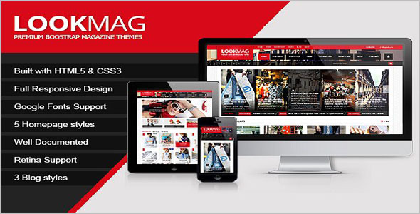 LookMag HTML5 Grid Layout Template