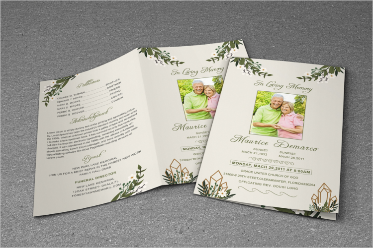 ms word funeral program template