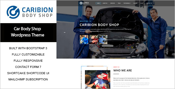 Mailchimp Automotive WordPress Template