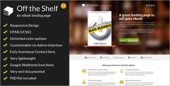 Marketing Ebook Landingpage Template