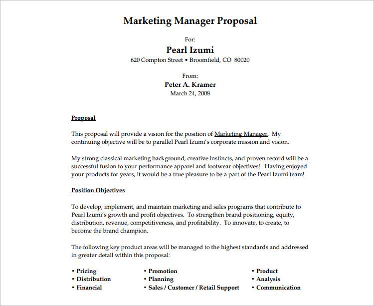 20  job proposal templates