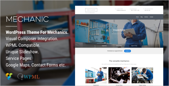 Mechanic Car WordPress template