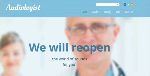 Medical Audiologist WordPress Theme