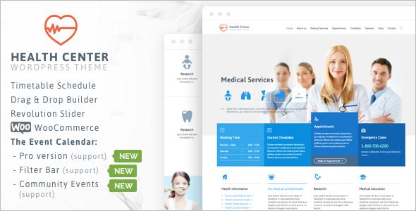 Medical Dentist Center WordPress Template