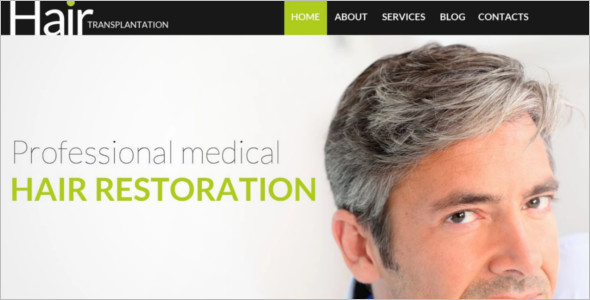 Medical Hair Restoration WordPress Template