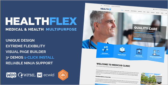 Medical Health WordPress Template