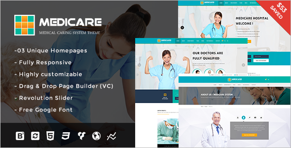 Medical Organization WordPress Template
