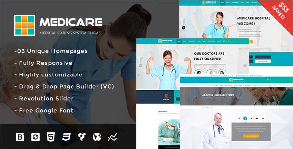 Medical Organization WordPress Template