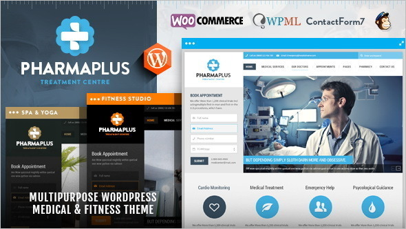 Medical PharmaPlus WordPress Template