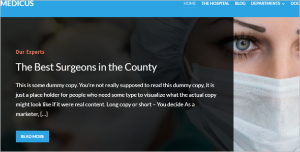 Medicus Surgeon WordPress Template