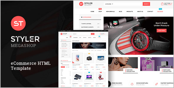 Mega Retail Menu HTML Template