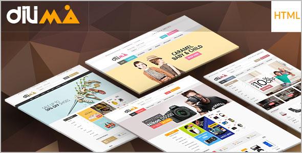 Mega Shopping Menu HTML 5 Template